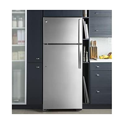 """GE Electric GAS18PSJSS GE 28"""" Freestanding Top Freezer Refrigerator with 17.5 cu. ft. Capacity (Stainless Steel)"""