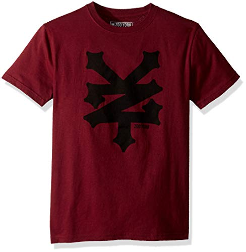- Zoo York Boys' Big Short Sleeve Graphic TEE, Merlot, Medium (10/12)