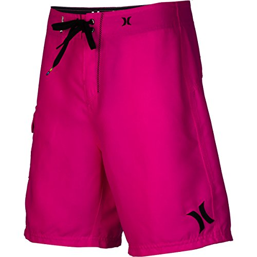 Hurley Men's One and Only 19 Boardshort Super Suede, Neon Pink/Hurley, 31