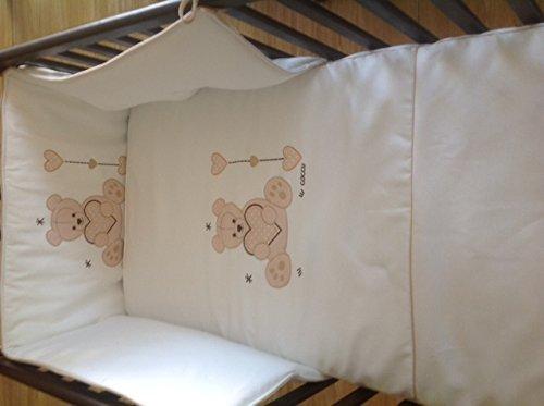 Cuna para bebé, modelo Oso Dormilón + KIT COLECHO + Colchón Viscoelástica + edredón y chichonera (edredrón y chichonera azul): Amazon.es: Bebé