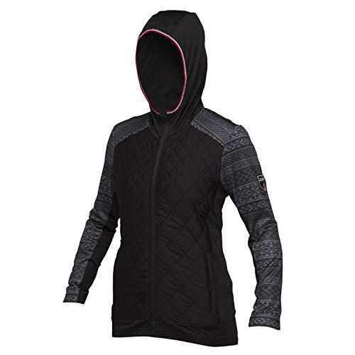 Swix Women's Myrene Full Zip Hoodies (Black/Grey Nordic Print,S)