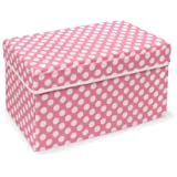Badger Basket Company Double Folding Storage Seat, Pink
