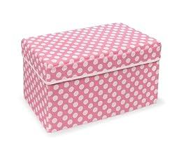 Badger Basket Company Double Folding Storage Seat, Pink