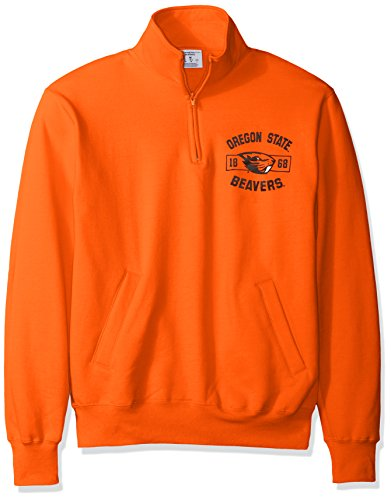 Champion NCAA Oregon State Beavers Men's Power Blend Fleece Quarter-Zip Jacket, Large, Orange by Champion