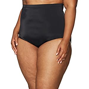 Amazon Brand – Coastal Blue Women's Plus Size Control Swimwear Bikini Bottom