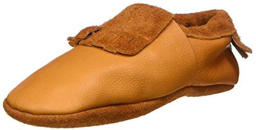 Pololo Mokassin Biokreis - Zapatillas de casa Unisex Niños Braun (Indiansummer)
