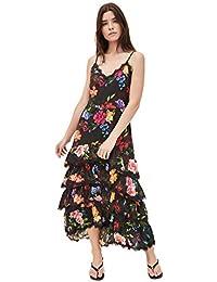 Women's Sleeveless Ruffle Tiered Maxi Dress