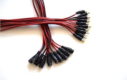 30cm 2.1 x 5.5mm DC Power Pigtail Female AFUNTA new 10pack 10 inch 2.1 x 5.5mm DC Power Pigtail MALE