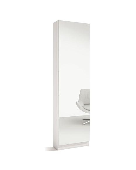 Liquidatodo® - Scarpiera con specchio moderno, 50 cm di larghezza ...