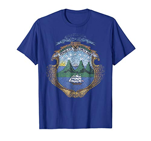 - Costa Rica Coat Of Arms T Shirt National Costa Rica Emblem