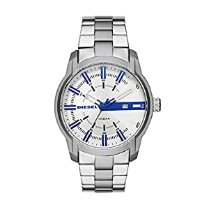 Diesel Men's 'Armbar' Quartz Stainless Steel Casual Watch, Color:Silver-Toned (Model: DZ1852)