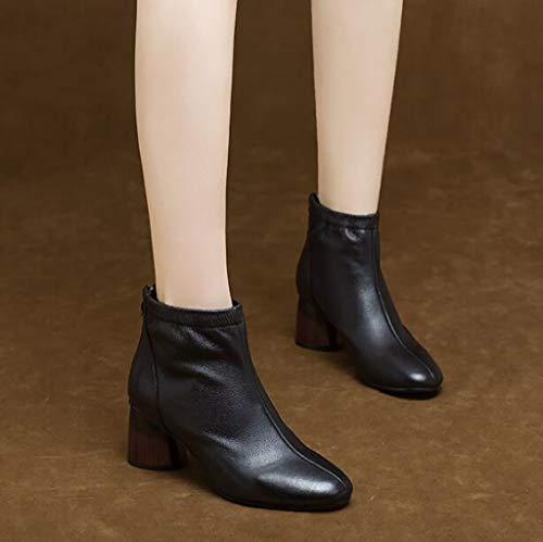 Zapatos Con Invierno Mujer E Cómodos Tacón Botas A Martin De Otoño q7wfZOq