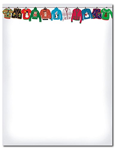 Holiday Stationery (Great Papers! Holiday Sweater Letterhead, 80 count, 11