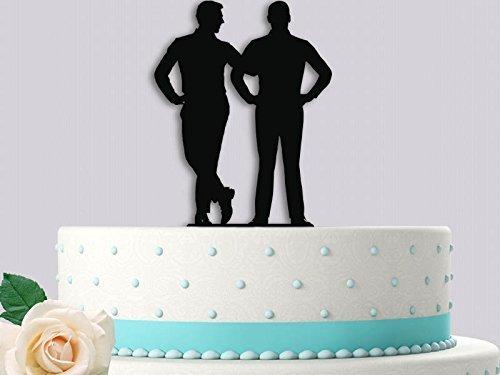Amazon Com 2 Men Same Sex Wedding Cake Topper Handmade