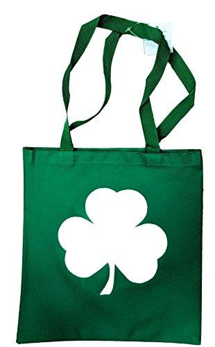Shamrock Tote Bag St Irish Gym Grocery Shopping Recycled Kelly ()