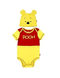 Winnie the Pooh Baby Boys' Creeper with Hat Set