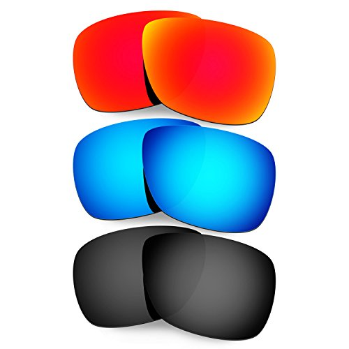 Hkuco Mens Replacement Lenses For Oakley Inmate Sunglasses Red/Blue/Black - Inmate Sunglasses