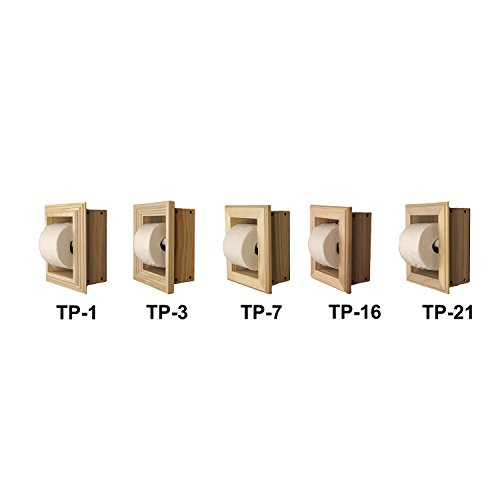 WG Wood Products Solid Wood Recessed wall Bathroom Toilet Paper Holder in Multiple Finishes, Primed/Ready To Paint by WG Wood Products (Image #2)