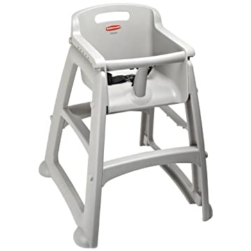 "Rubbermaid Commercial FG780608 Platinum Sturdy Chair Youth Seat without Wheels, 23.5"" Length, 23.5"" Width, 29.75"" Height"