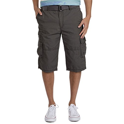 108ea5a1b7 UNIONBAY Men's Ripstop Belted Messenger Length Cargo Short, Droid, ...