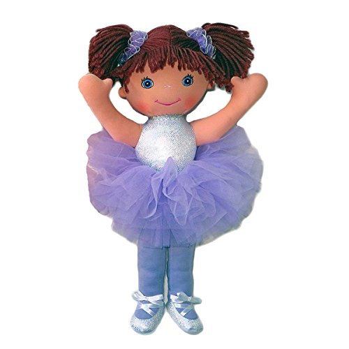 Anico Well Made Play Doll for Children Ballerina with Pigtails, 18