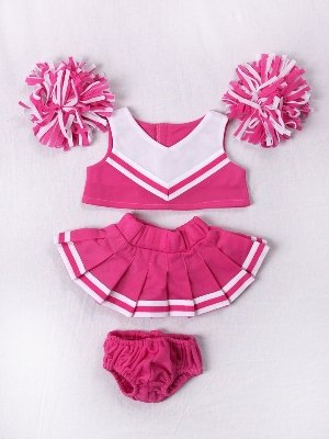 Amazon Pink White Cheerleader Clothes For 40 40 Stuffed Impressive Build A Bear Clothes Patterns