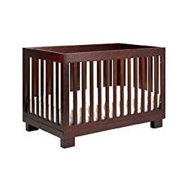 Modo 3-in-1 Convertible Crib with Pure Core Non-Toxic Crib Mattress with Dry Waterproof Cover