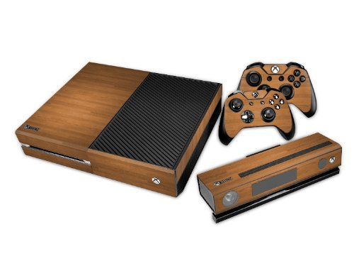 (TM) Xbox One Kinect Console Designer Skin for Xbox One Console System Plus Two (2) Decals For: Xbox One Controller - Wood ()