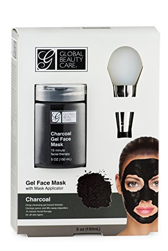 Black: Charcoal Gel Face Mask with Applicator