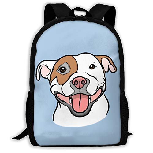 School Backpack,Happy Go Lucky Pit,Water-resistant Daypack For Student College Schoolbag,Laptop Bookbag For Travel & Business,Fits 15 Inch Notebook