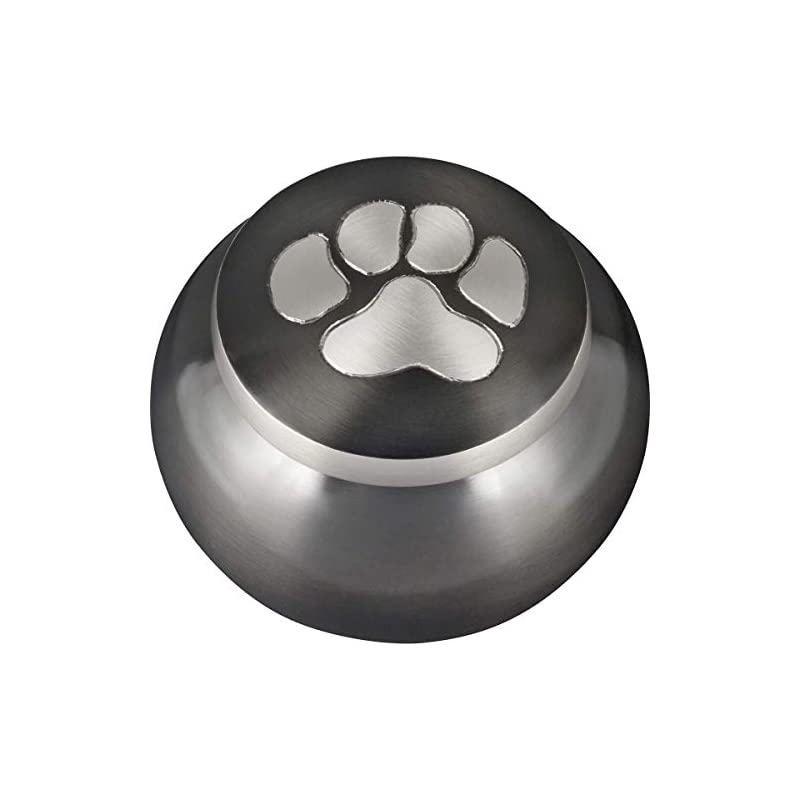 dog supplies online best friend services mia paws series pet urn (slate, small, pewter)