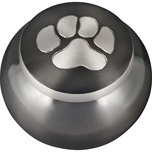 Best Friend Services Mia Paws Series Pet Urn (Slate, Large, Pewter)