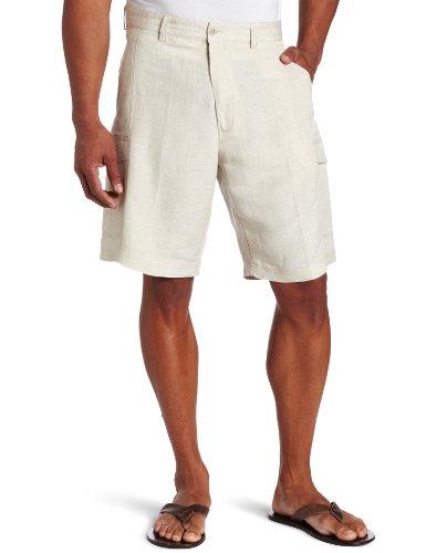 Cargo Shirts Linen - Cubavera Men's Cargo Short, Natural Linen, 42