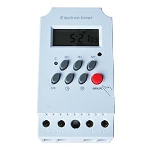 SODIAL (R) - Interruptor Temporizador electrónico programable (220V CA - 25A)