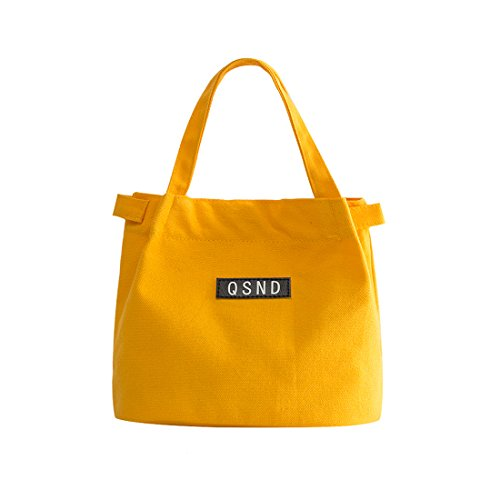 iSuperb Canvas Casual Handbag Shoulder Bag Totes Purses for Ladies Girls Women (Yellow)