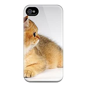 For Iphone 4/4s Tpu Phone Case Cover(cutest Kitty Ever)