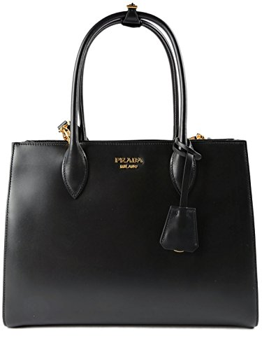 Prada Bibliotheque City Calf Shopping 1BG098 Nero - Prada Shopping Bag