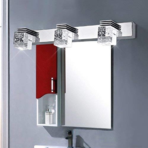 Popular 450Mm 3 Crystal Mirror Light 85-265V 9W Led Bathroom Wall Lamp -