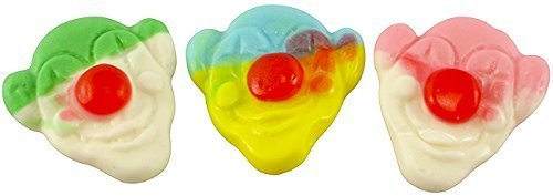 Gummy Circus Candy Clowns 2.2 Pounds In a Resealable Container-Birthday Party Candy-FRESH
