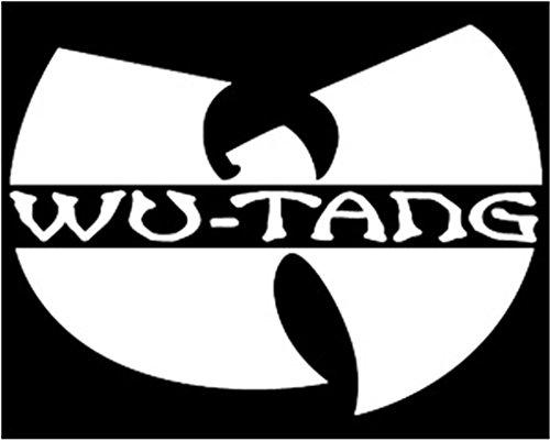WU Tang Clan Logo Wu Tang Symbol Decal Vinyl Sticker|Cars Trucks Vans Walls Laptop| WHITE |5 x 3.5 - Snapbacks Indie