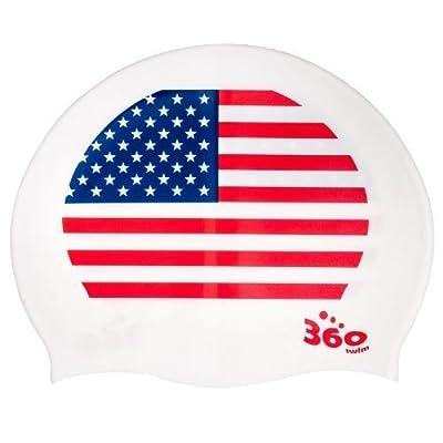 NEW USA Amérique drapeau patriotique Bonnet de bain en silicone Taille pour homme femme jeune