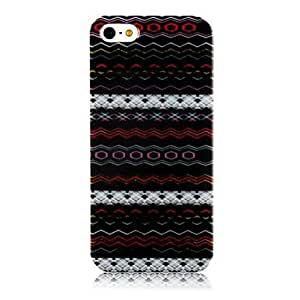 (CASEI)Hi-Q National Style Colorful Line Pattern Silicone Soft Case for iphone5/5s