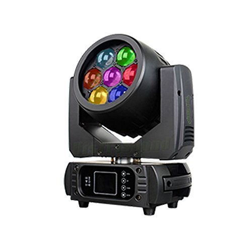 Lira profesional con LED Wash 7 x 15 W 4 in1 RGBW Zoom 8 ° -62 °, 34430 Lux @ 1 M