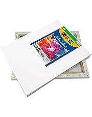 SÜDOR Canvas om te schilderen. 25x35 cm. Kunstenaar canvas set van 100% katoen op houten frame. Wit en gegrond. Canvas geschikt voor acrylschilderen, olieverf, tempera, acrylverf. Canvas Set (2)