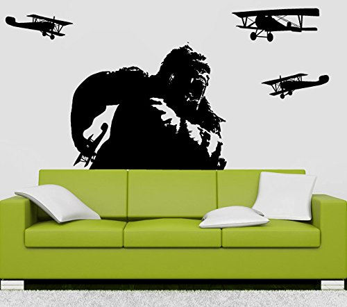 (CreativeWallDecals Wall Decal Vinyl Sticker Decals Art Decor Design Monkey Gorilla King Kong Movie Plane Kids Children Dorm Office Work Place Bedroom(r788))