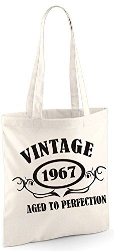 Sinclair TO Tote Black PERFECTION AGED With Edward Shoulder A VINTAGE 50th Birthday Bag Bag 1967 Print Present wE0Rq6