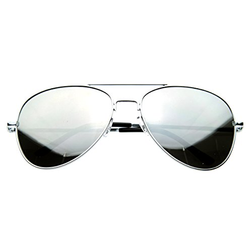 (SWG EYEWEAR Aviator One Way Mirror Sunglasses w/ 400)