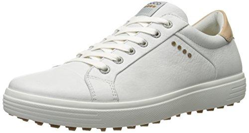 ECCO Men's MEN'SGOLF Casual Hybrid Smooth-M, White, 41 EU/7-7.5 M US (Ecco Mens Casual Hybrid Smooth Golf Shoe)