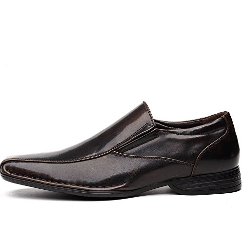 Slip Modern Lining OUOUVALLEY On Shoes Formal OUOU Loafer Leather Classic Brown 004 pxpYaXE