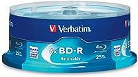 Verbatim BD-R 25GB 6X Blu-ray Recordable Media Disc - 25 Pack Sp
